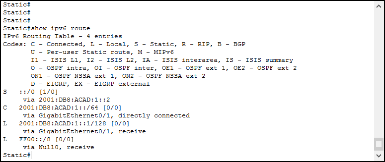 Ipv6 routing with static routes and ripng ictshore use show ipv6 route cisco ios command to check the ipv6 routing table keyboard keysfo