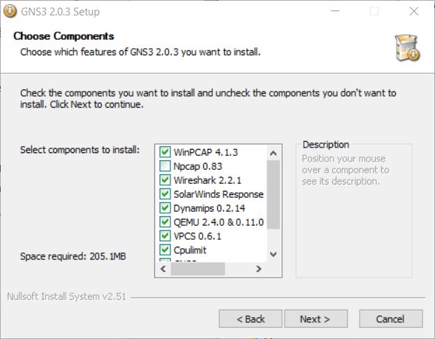Install GNS3 components - ICTShore com