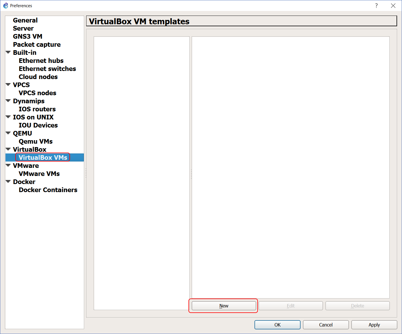 VMs in GNS3: add VirtualBox servers to your network lab - ICTShore com